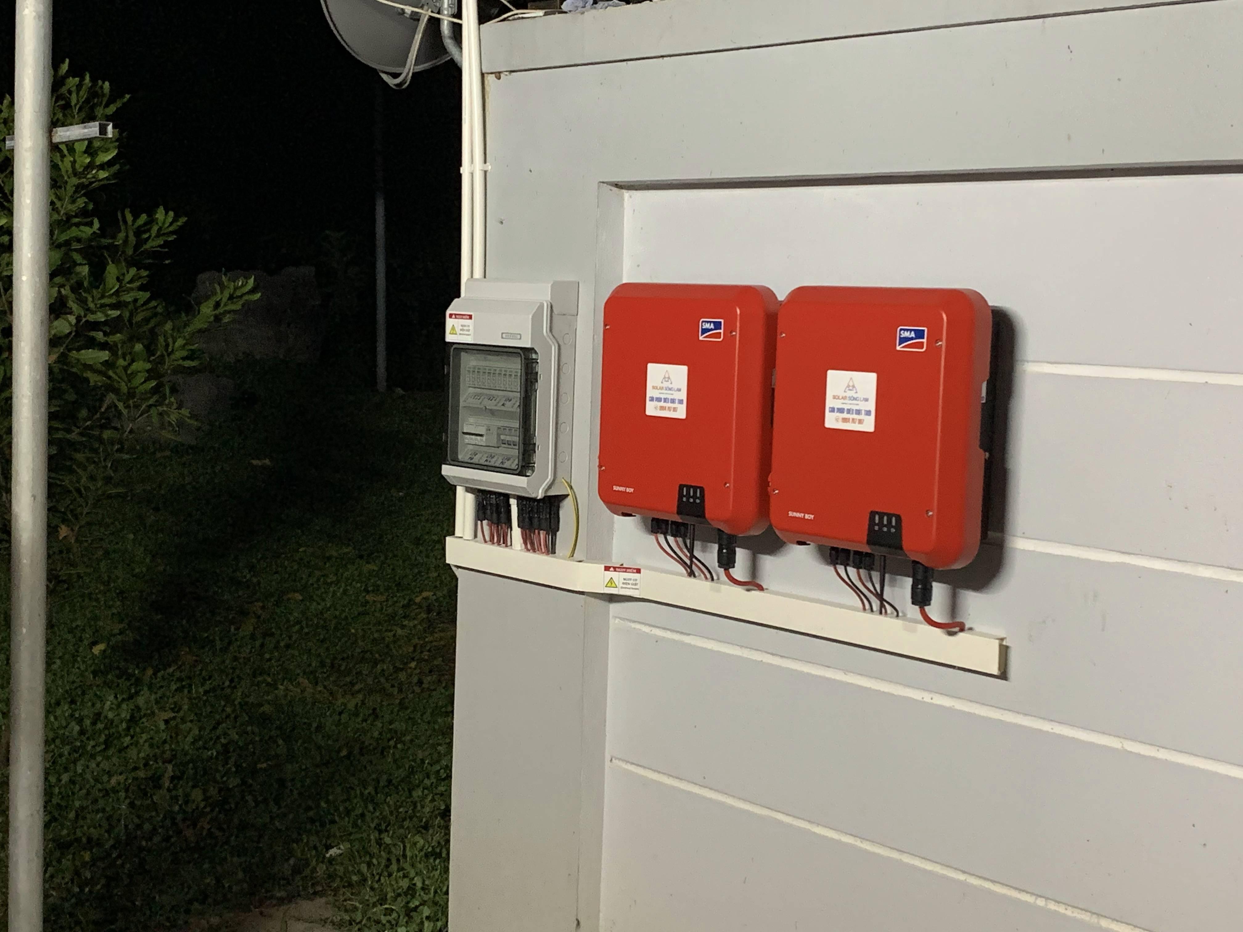 Inverter hoà lưới năng lượng mặt trời SMA Sunyboy 5kw 1pha- Dual Mppt Full wifi   solarsonglam.com