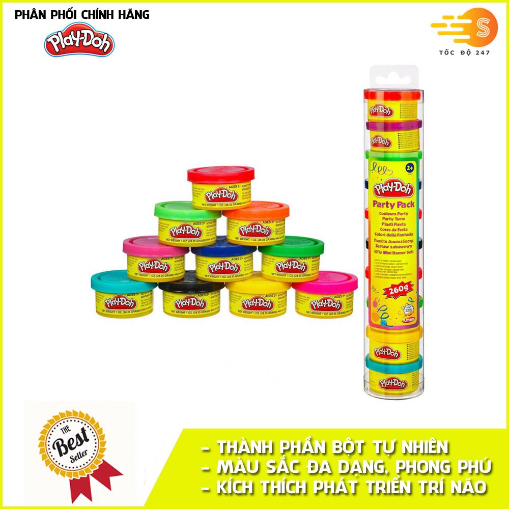 Ống bột nặn tạo hình 10 màu Play-Doh 22037