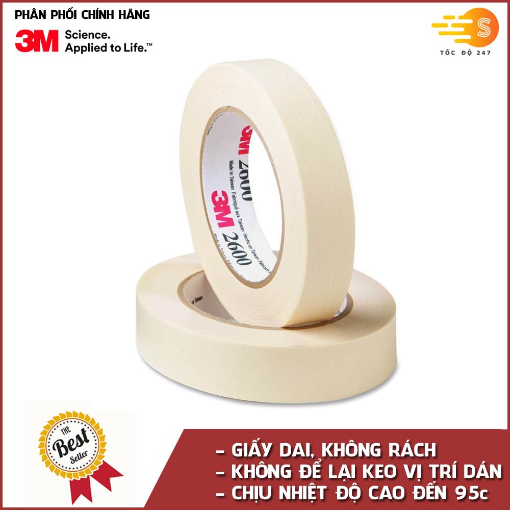 Băng keo giấy mặt thông dụng 3M 2600