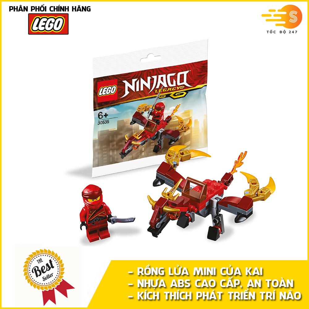 Bộ đồ chơi lắp ráp rồng lửa mini của Kai Lego NinjaGo 30535