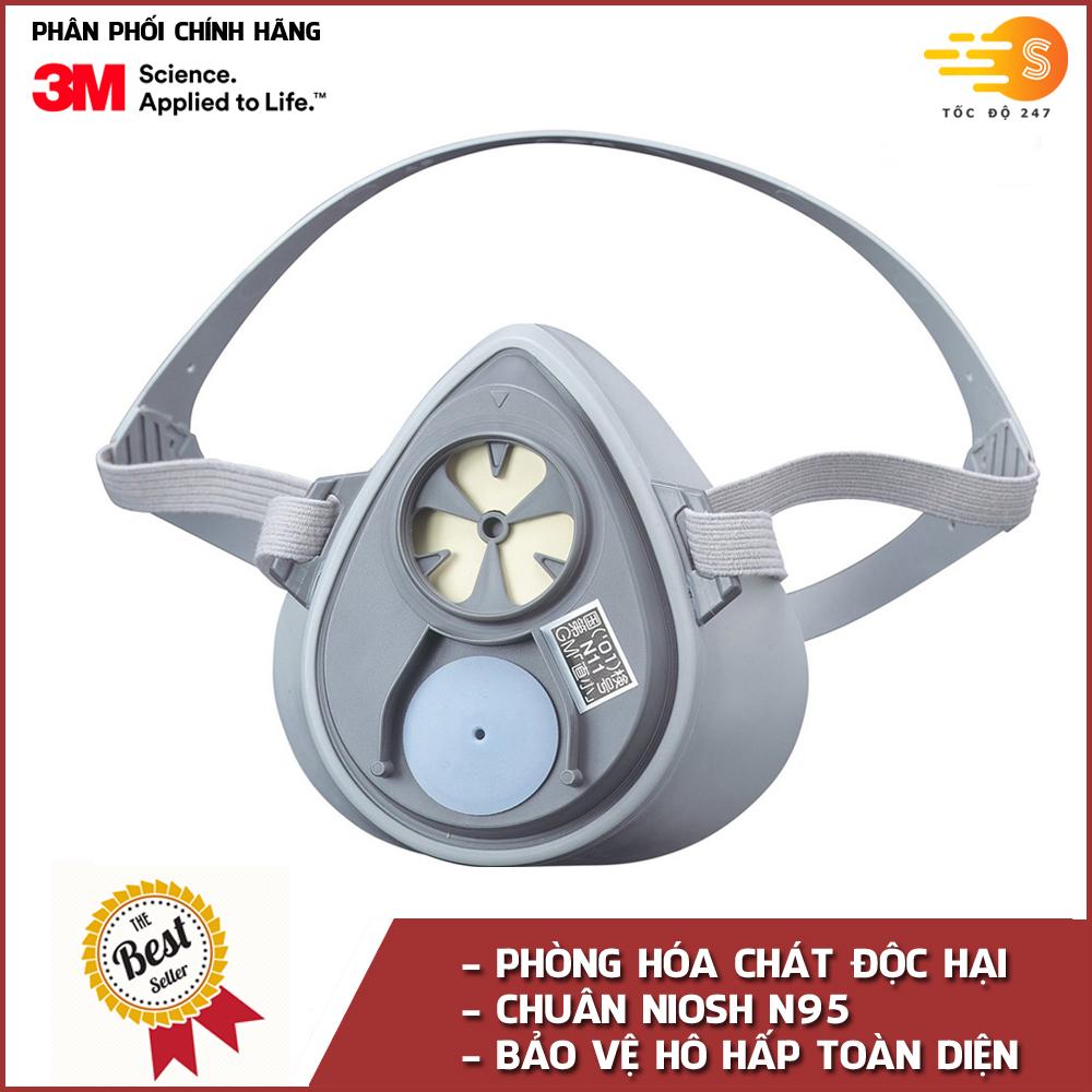 Mặt nạ phòng độc chuyên dụng bảo vệ hô hấp 3M 3100