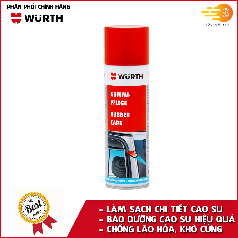 Chai xịt bảo dưỡng cao su chuyên dụng Wurth WU-BDCS300