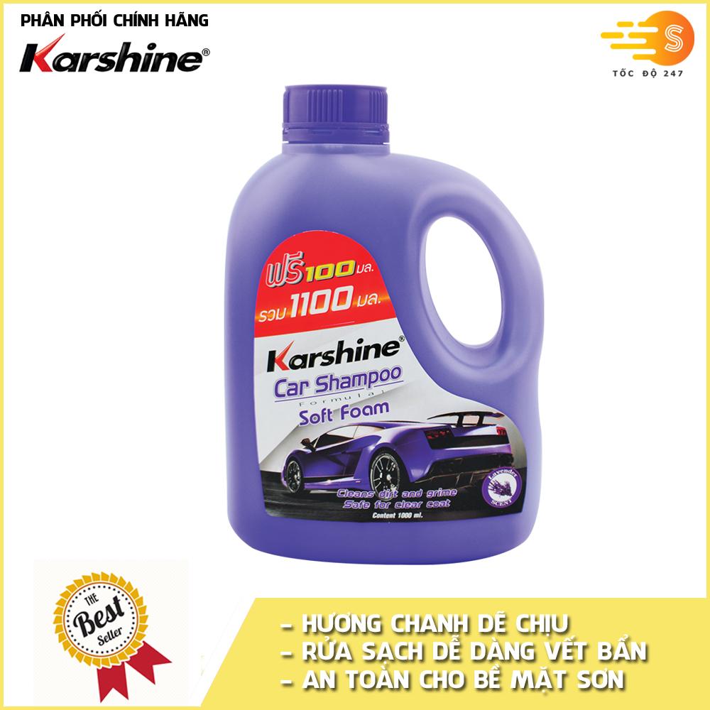 Xà bông rửa xe đậm đặc Karshine KA-RX1100 1100ml - nhiều mùi hương