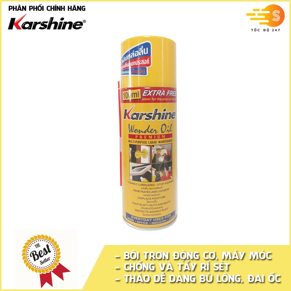 Chai xịt tẩy rửa, bôi trơn và chống rỉ sét Karshine KA-WO400 400ml