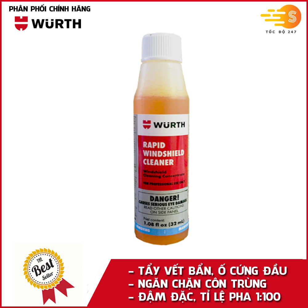 Nước rửa kính lái đậm đặc hương thơm nhẹ Wurth WU-RKL32