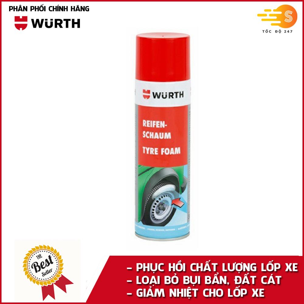 Dung Dịch vệ sinh và bảo vệ lốp ô tô cao cấp Wurth WU-VSL500