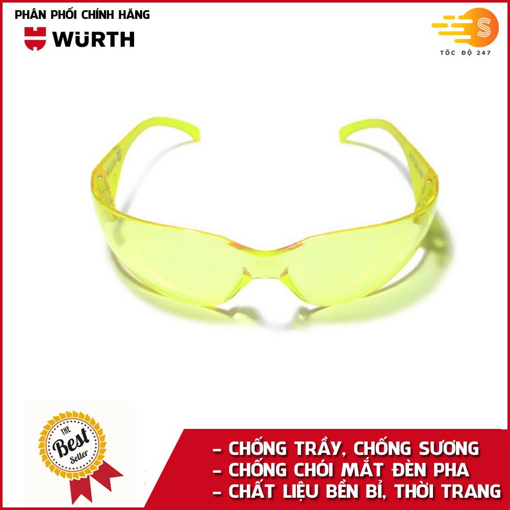 Kính bảo hộ mắt chống bụi và chống lóa chuyên dụng Wurth WU-KBH-V2
