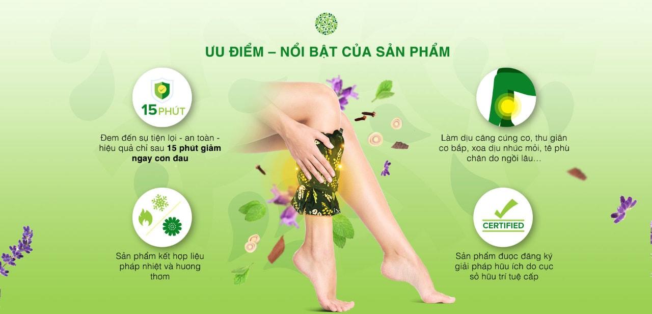 Đặc tính của túi chườm bắp chân ATZ Organic