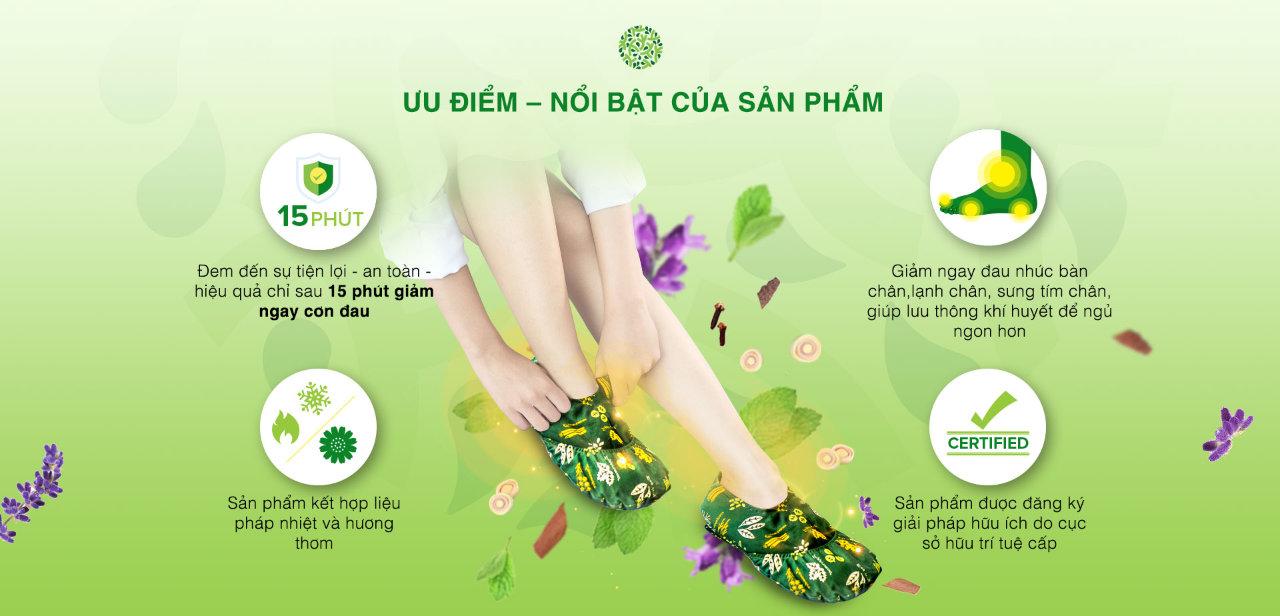 Ưu điểm túi chườm chân của ATZ Organic