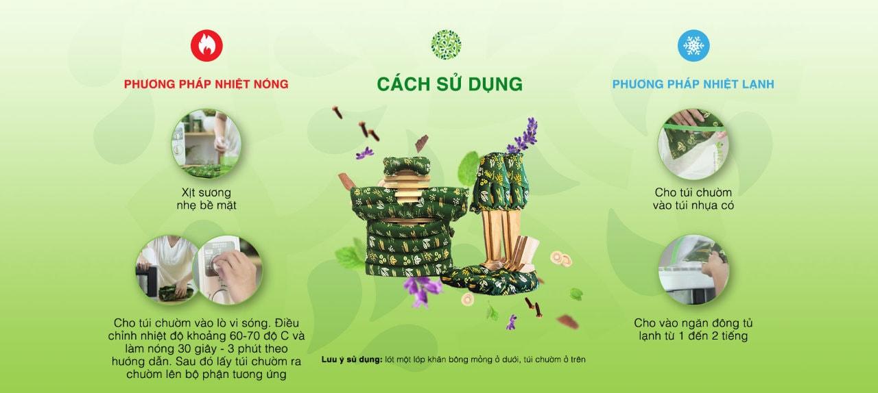 Cách sử dụng túi chườm Gia Đình ATZ Organic