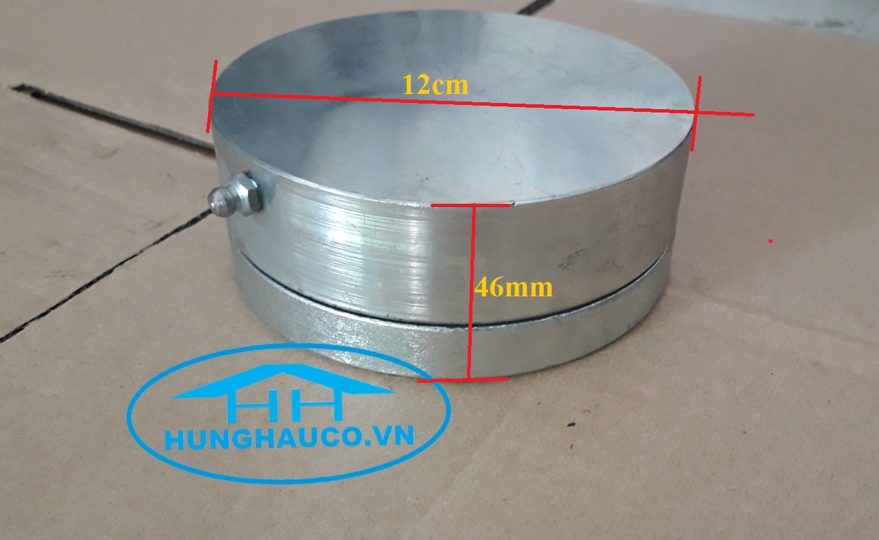 Bản lề cối xoay dưới D120mm  BLC-120D (tải trọng 1000kg/cánh)