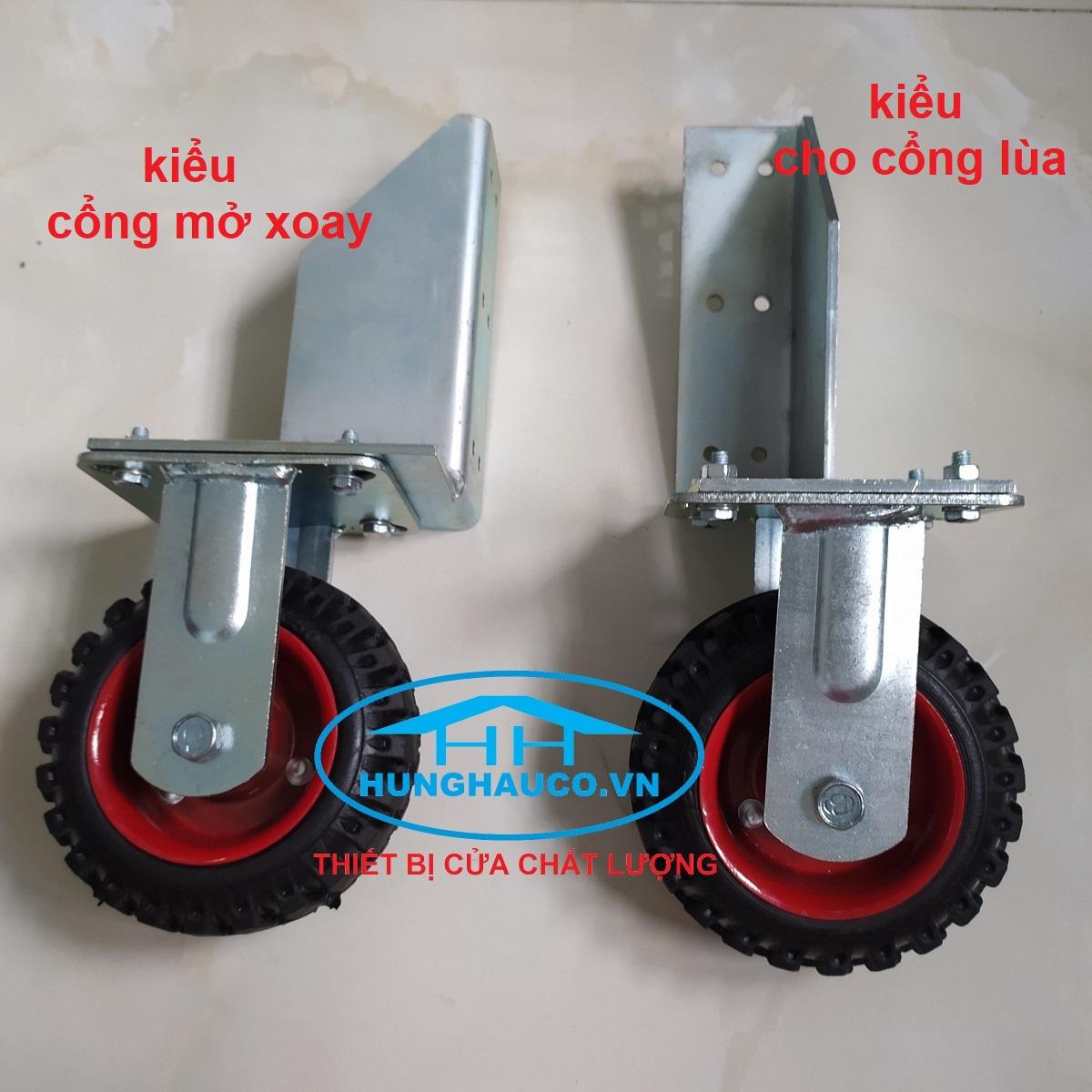 bánh xe hỗ trợ cửa - bánh xe đỡ đầu cửa ( pát cố định)