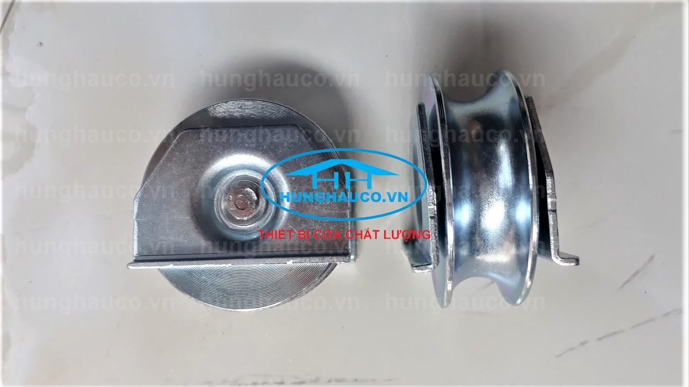 bánh xe gắn âm cửa cổng lùa 80mm - chạy ray U 20mm