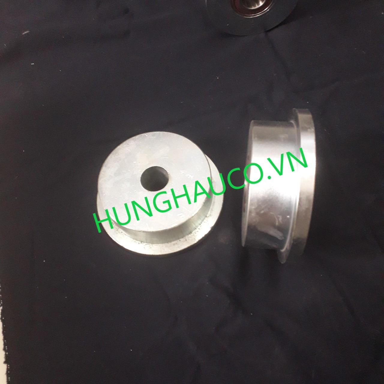 bánh xe cửa cổng lùa T 150mm, không bạc đạn - lổ trục 25mm