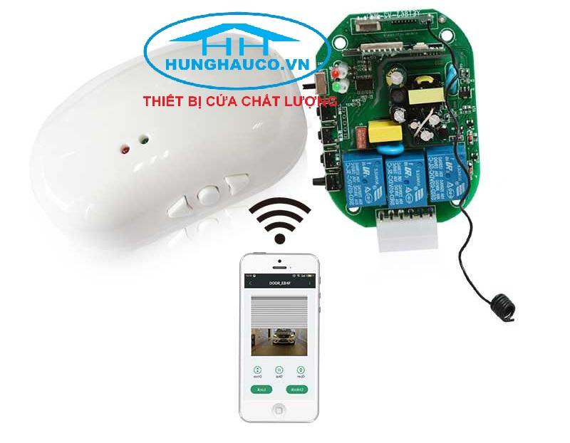 bộ điều khiển cửa cuốn bằng điện thoại YET-863WF (dùng mạng 3g, 4g, wifi ) + 2 remote