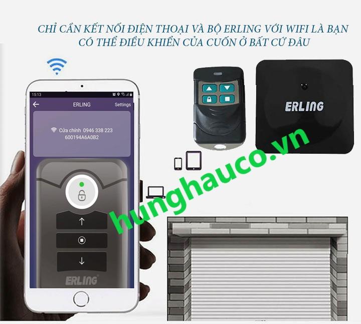 Bộ điều khiển cửa bằng Điện thoại Erling (dùng mạng 3g, 4g, wifi ) + 2 remote