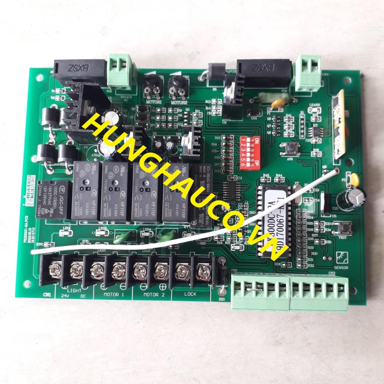bo mạch điều khiển cổng mở 2 cánh 24V Master ( không kèm remote)