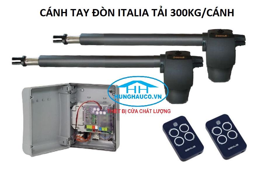 Motor cánh tay đòn GENIUS  300kg/cánh  - 2 cánh  (ITALIA)