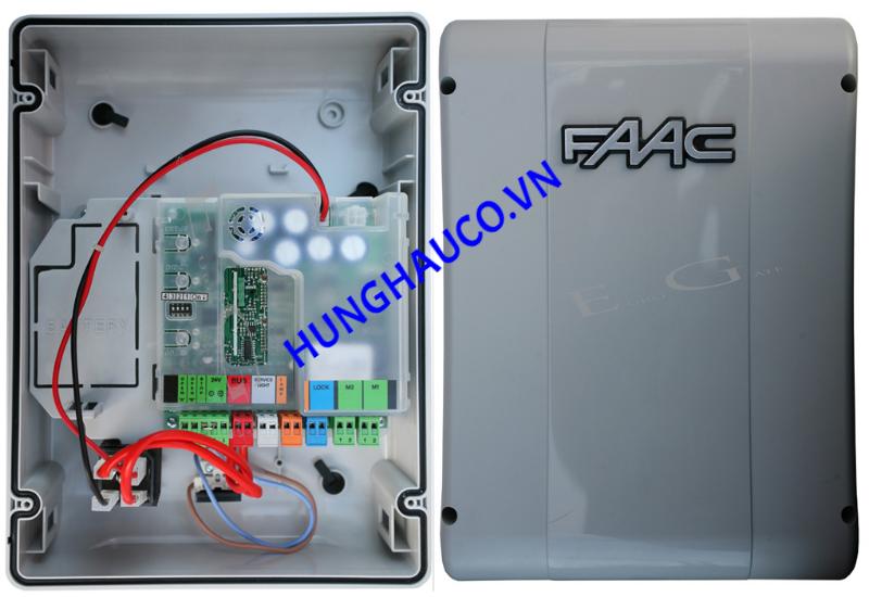 tủ điểu khiển cổng mở 2 cánh  FAAC 24vdc (không remote)