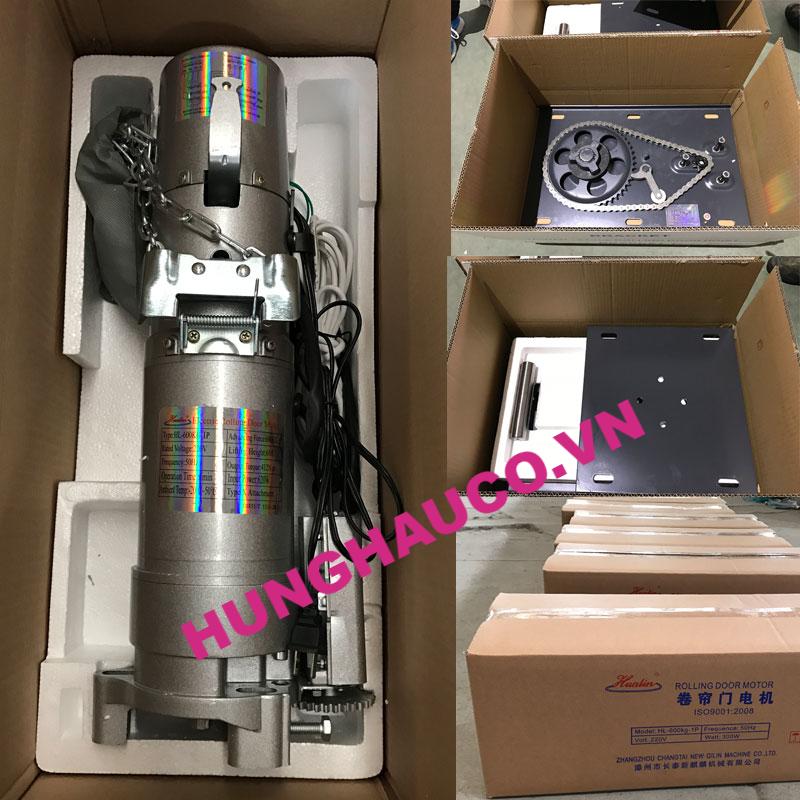 motor cửa cuốn HUALIN 1000kg +2 Remote