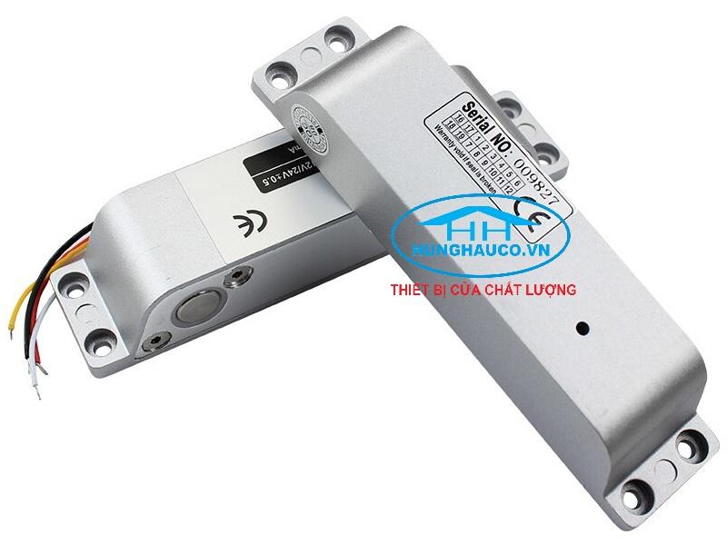 khóa chốt 12VDC gắn nổi cho cửa gỗ, cửa nhôm, cửa sắt