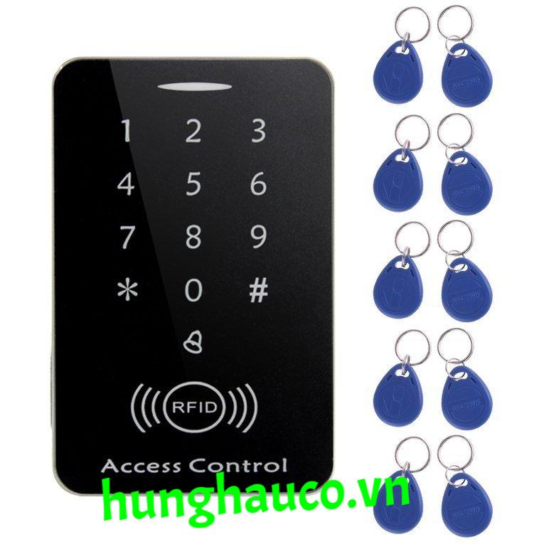 bộ mở cửa bằng mật khẩu và thẻ từ + 10 thẻ từ ( đen)