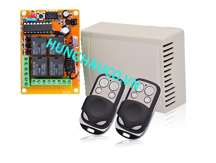 Mạch thu sóng Remote cửa cổng DC24V  + 2 remote