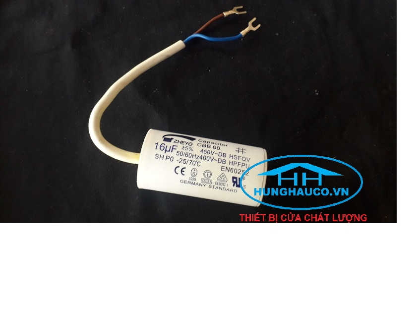 Tụ điện 16UF cho motor cửa cổng và motor cửa cuốn AC220V