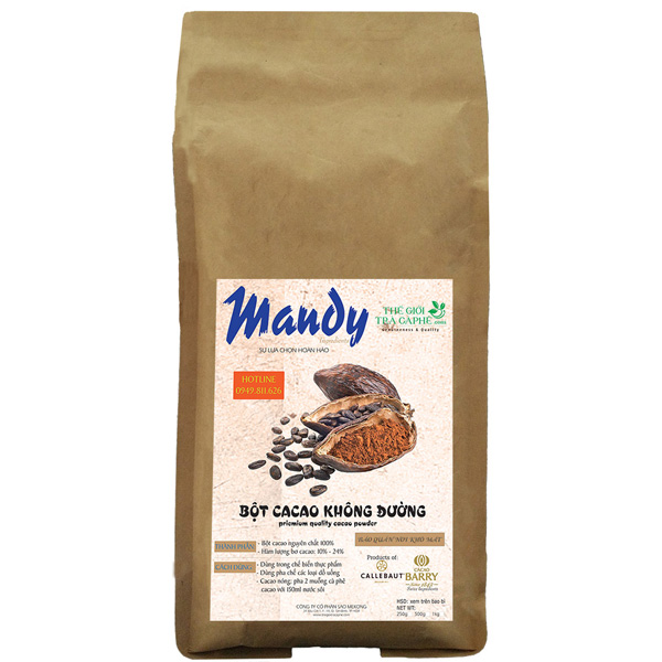 500g bột cacao nguyên chất Mandy - QUEEN ANA