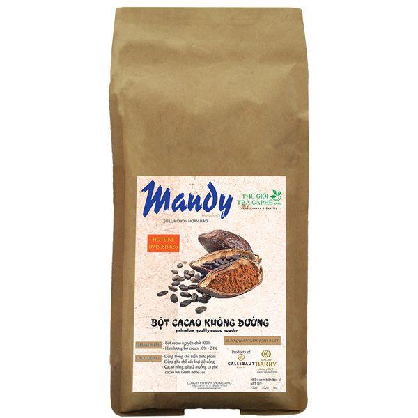 250g bột cacao nguyên chất Mandy - QUEEN ANA