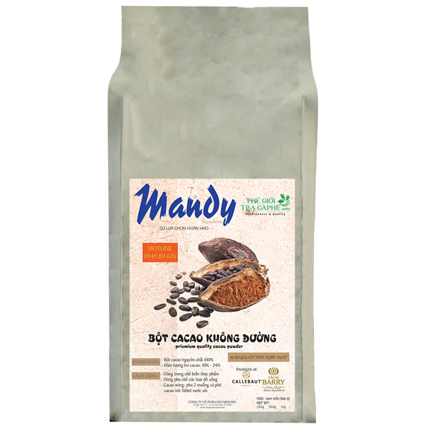 1kg bột cacao nguyên chất Mandy - SUPERIOR RED