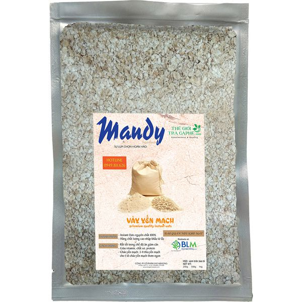 Vảy yến mạch MANDY - Instant Oats - 1kg