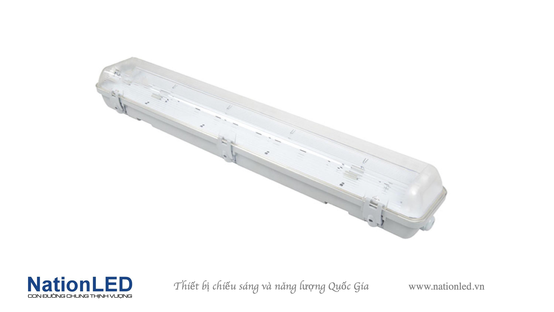 Máng đèn T8 chống ẩm 2 bóng - 0,6m