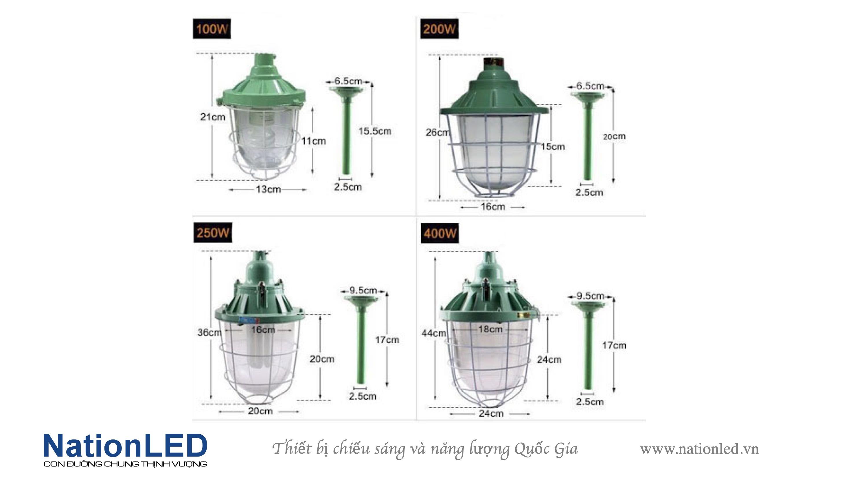 Máng đèn chống nổ đui xoáy E27 - H20
