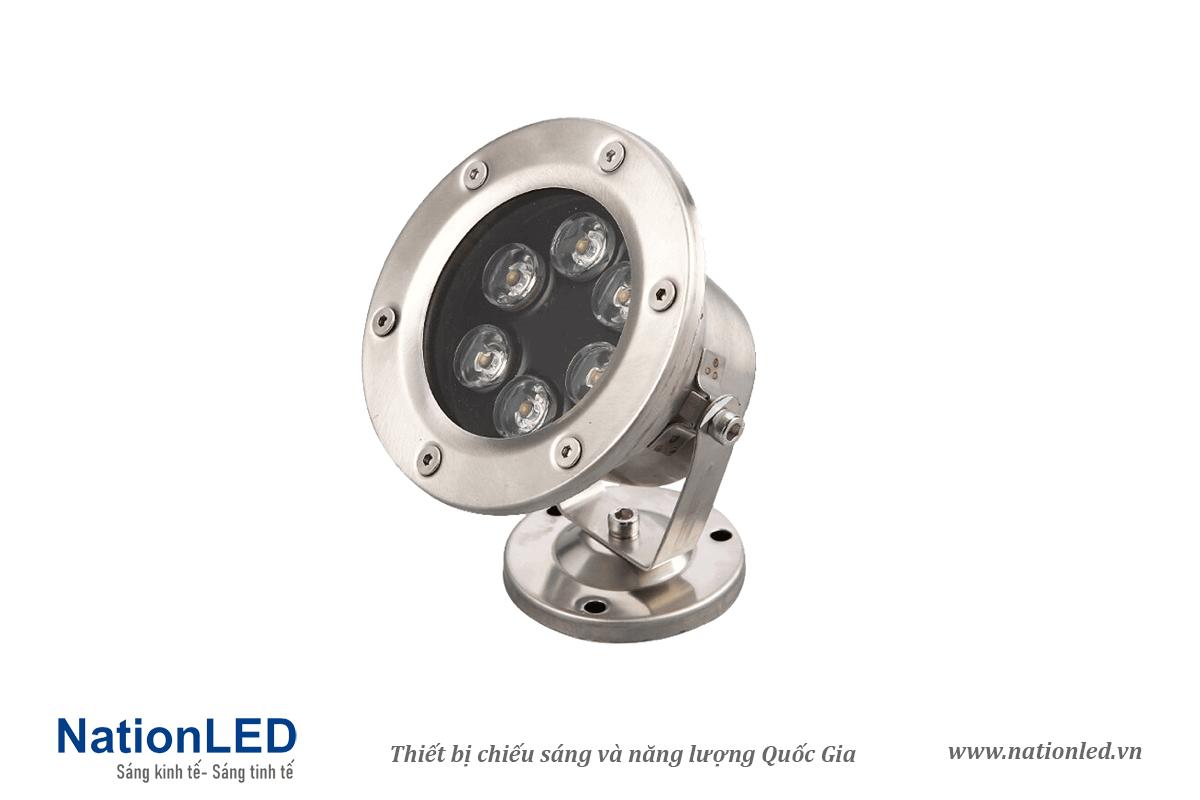 Đèn LED âm nước đế ngồi 6W - NationLED