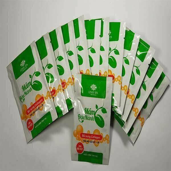 Túi nhỏ mầm đậu nành Collagen Linh Spa