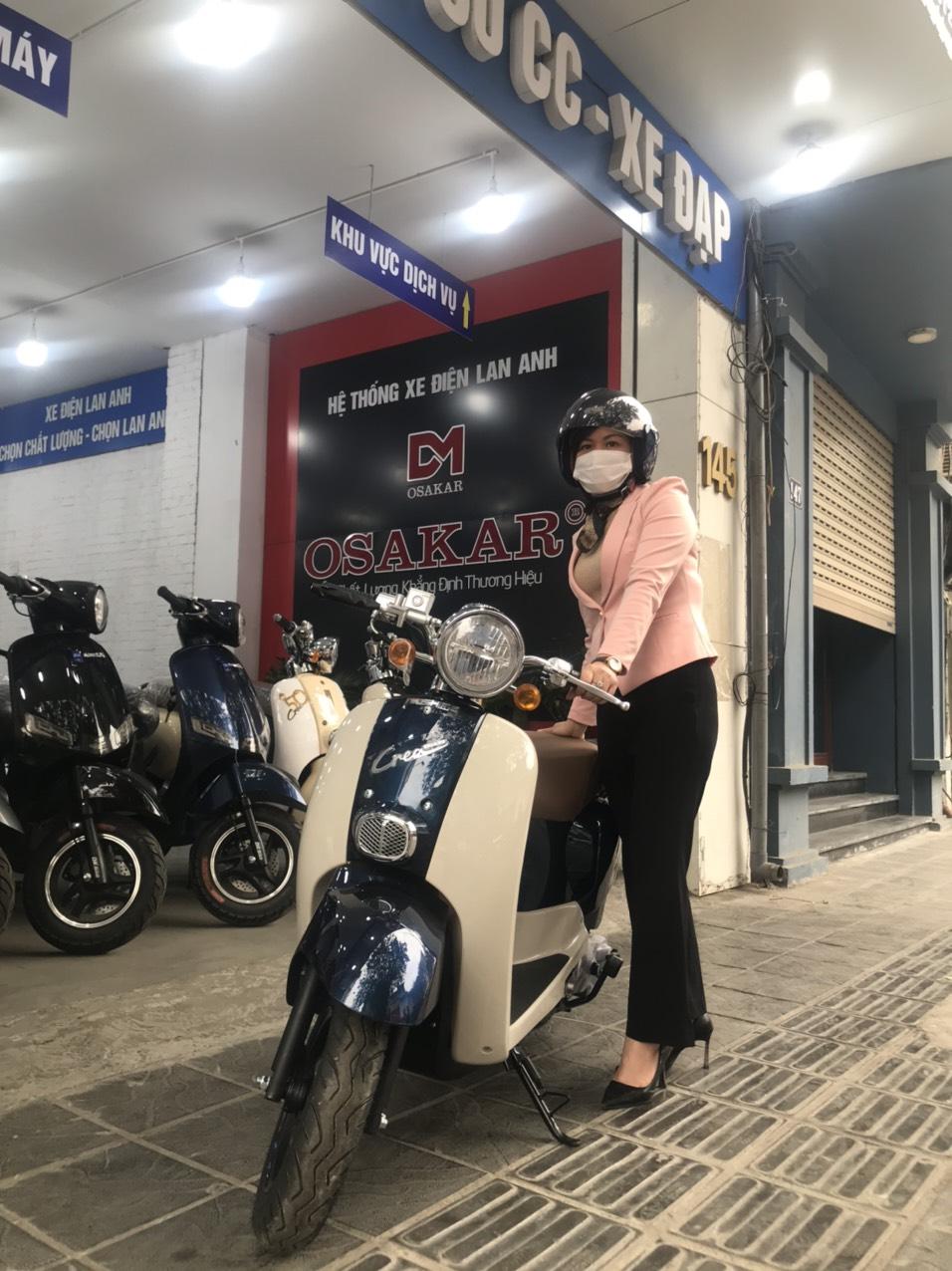 Xe Crea 50cc xanh cửu long