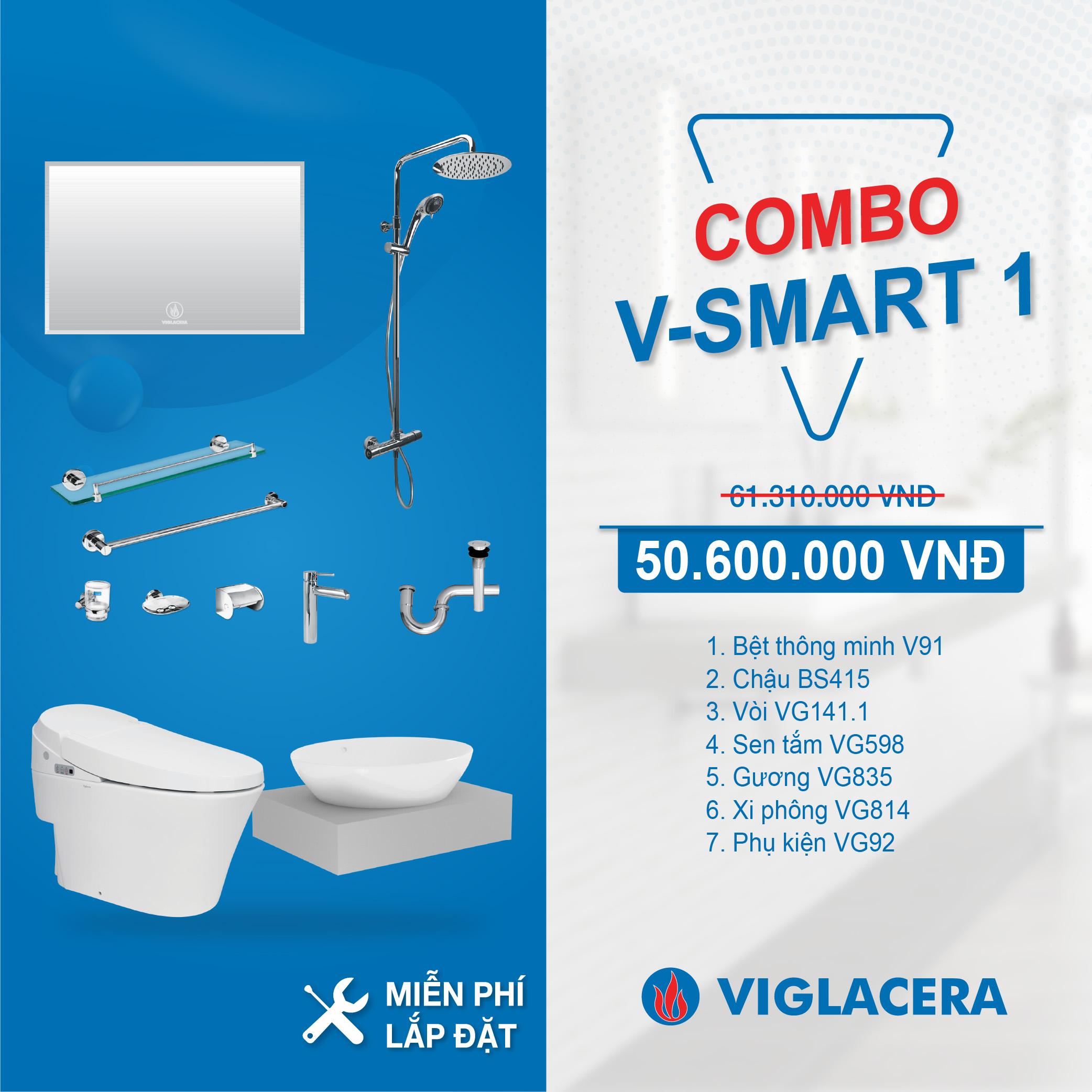 Combo Nhà tắm thông minh V-SMART 1