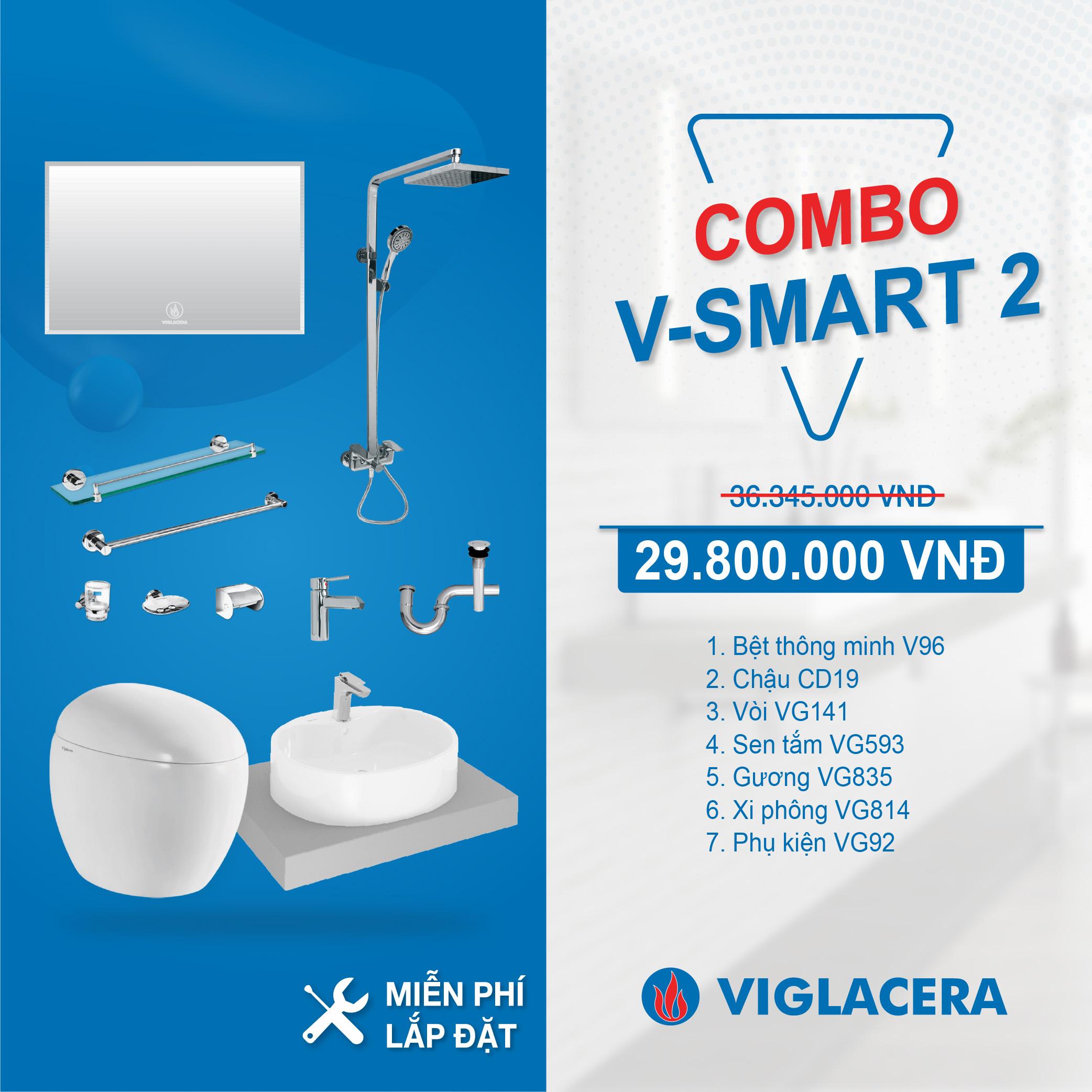 Combo Nhà tắm thông minh V-SMART 2