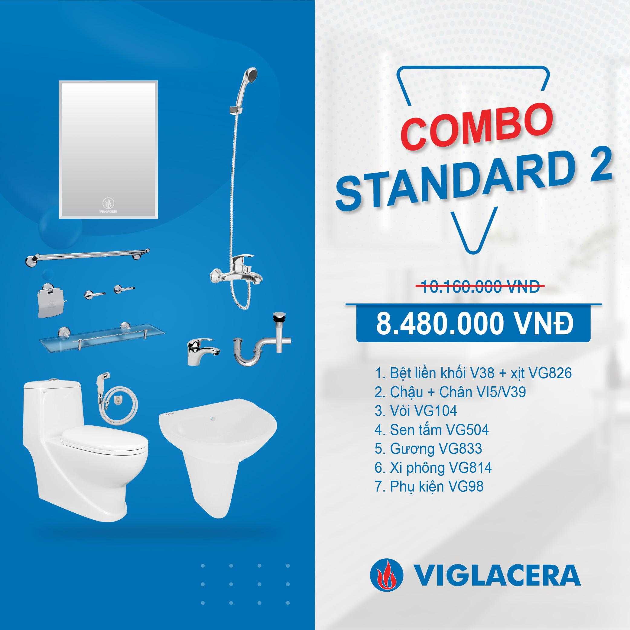 Combo Viglacera Standard 2