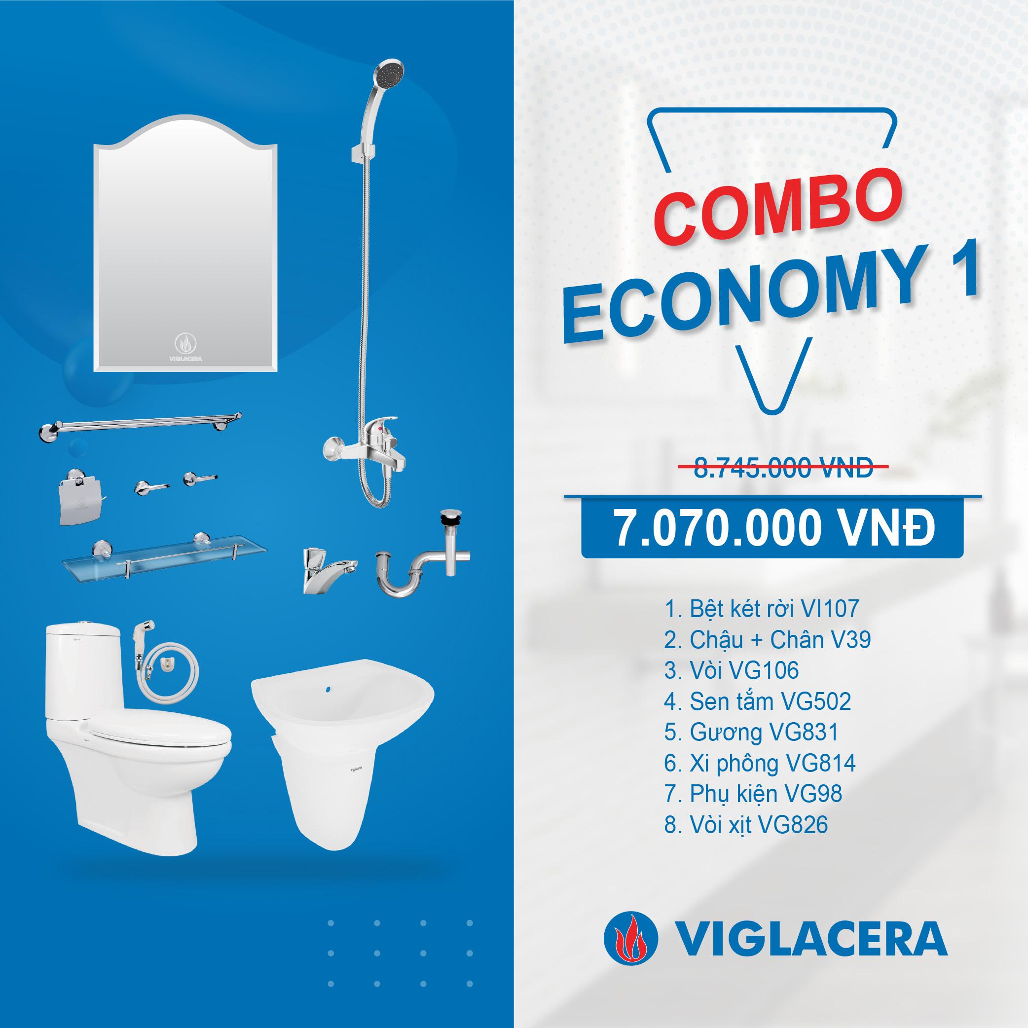 Combo Viglacera Economy 1
