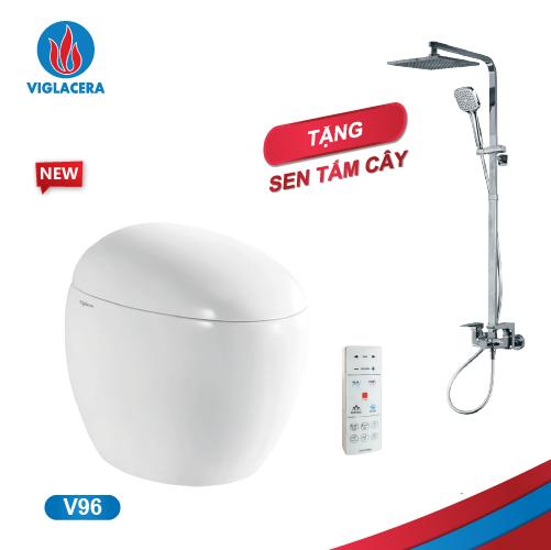 Bàn cầu thông minh V-SMART V96 (Tặng kèm Sen tắm 3 chế độ)