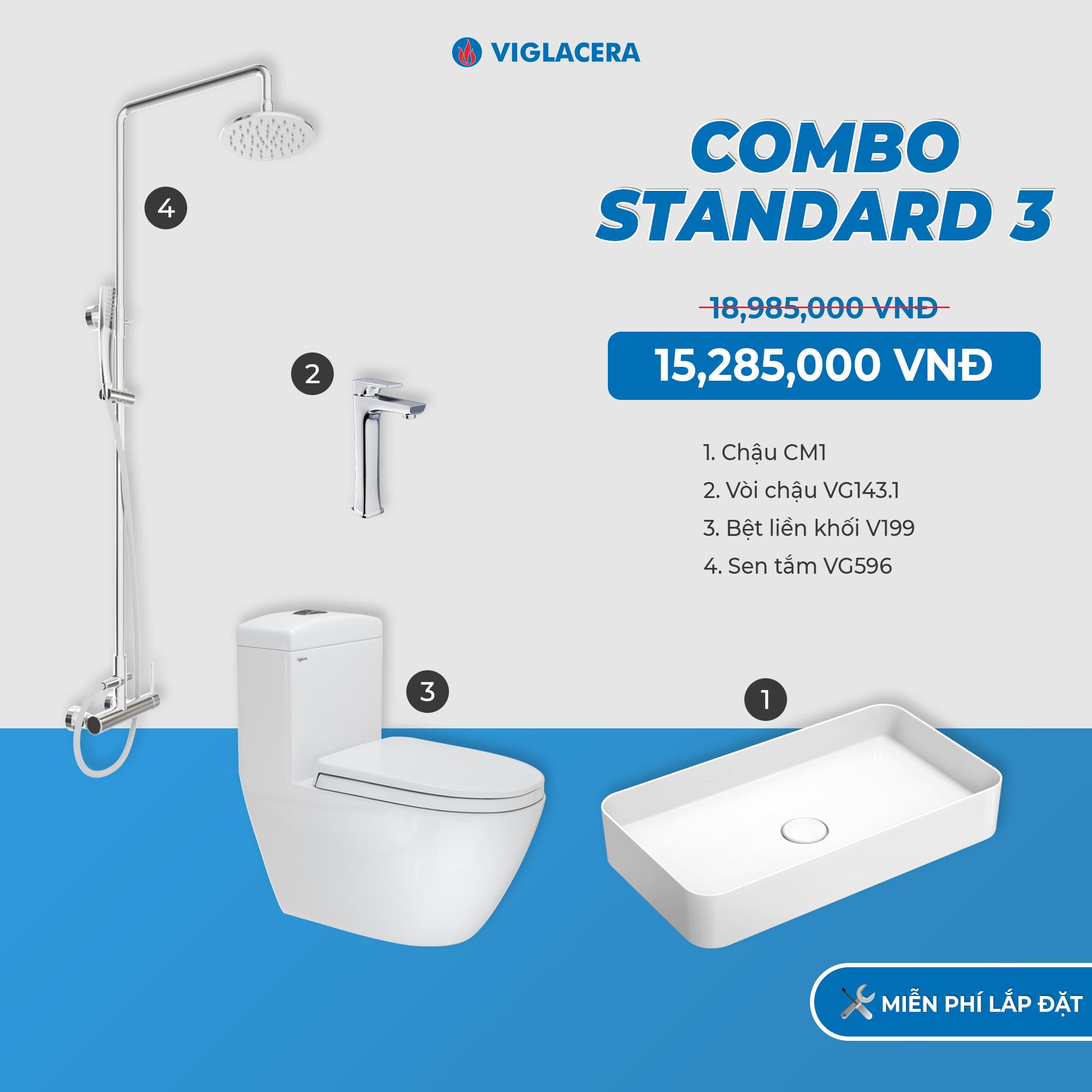 Combo Viglacera Standard 3