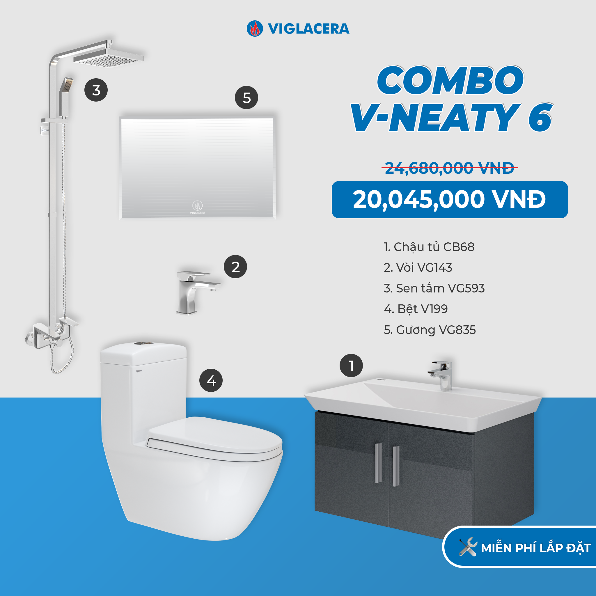 Combo V-NEATY 6