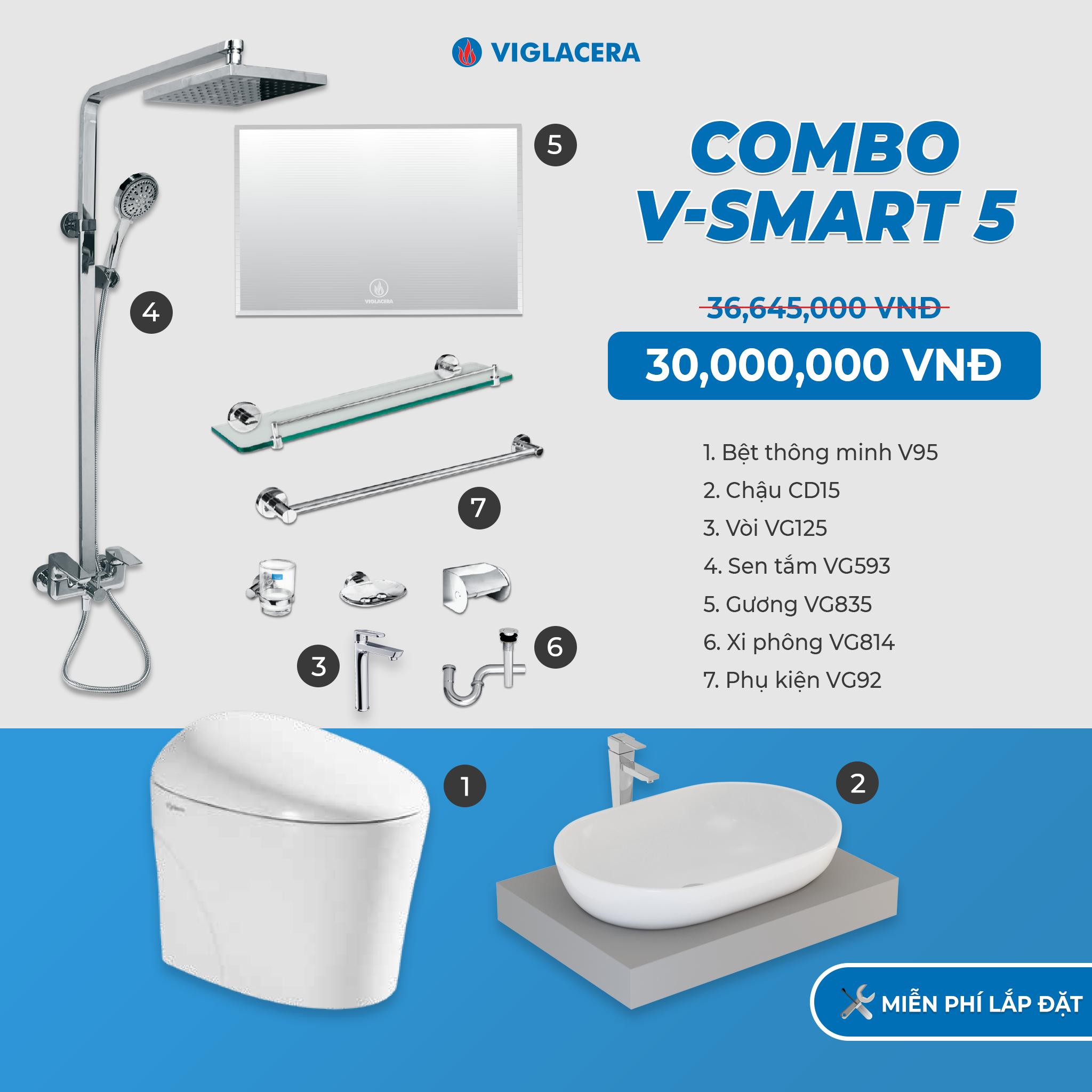 Combo Nhà tắm thông minh V-SMART 5