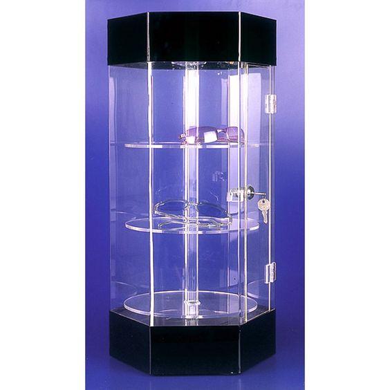Tủ mica trưng bày có đèn led