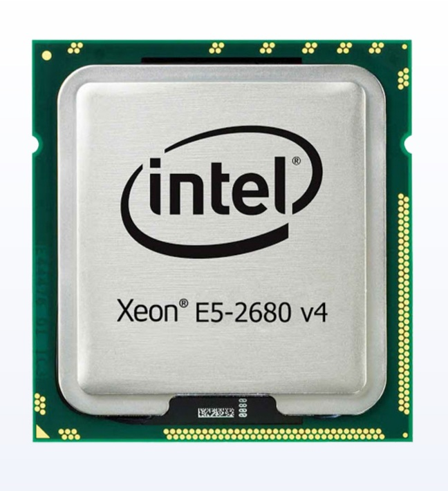Xeon E5-2680 V4, 14core/28threads, 2.4Ghz turbo 3.3Ghz