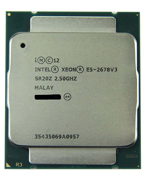 Xeon E5-2678 V3, 12core/24threads, 2.5Ghz - 3.1Ghz