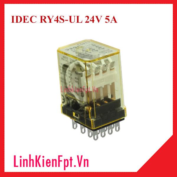 Rơ le trung gian IDEC RY4S-UL 24V 5A