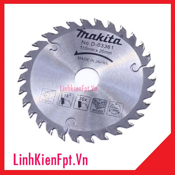 Lưỡi Cưa Gỗ-Lưỡi Cắt Gỗ Makita 110mm-30 Răng